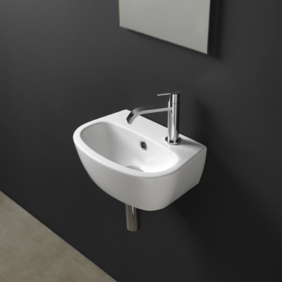 Milk lavabo a parete Mini Nic Design 40x28xh.15,5 001311